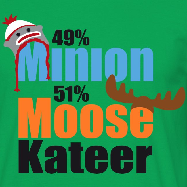 49% Minion 51% MooseKateer