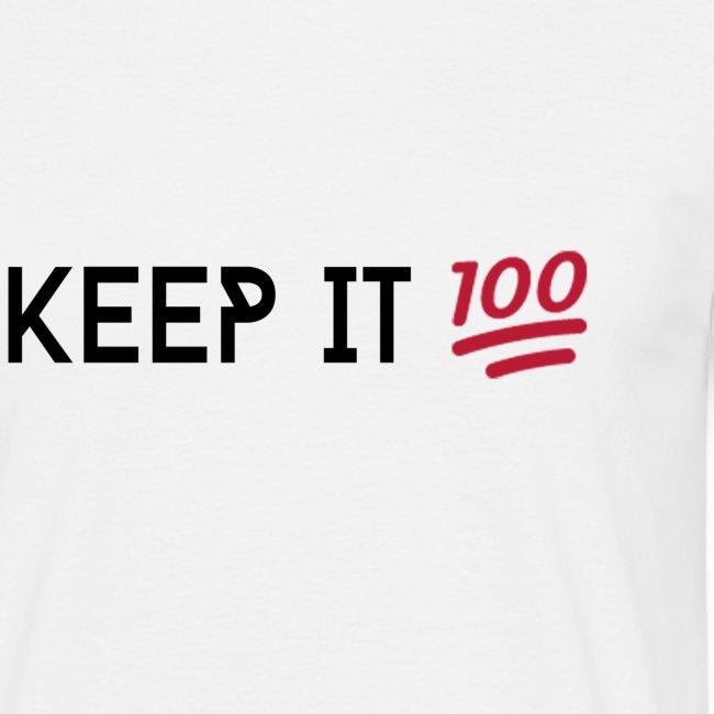 KEEP IT 100 ZWART png