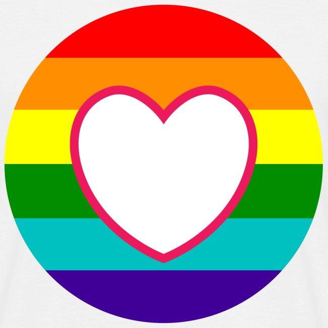 Regenboog donut met hart in het midden