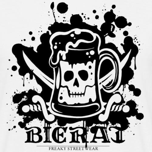 Bierat Splash black - Männer T-Shirt