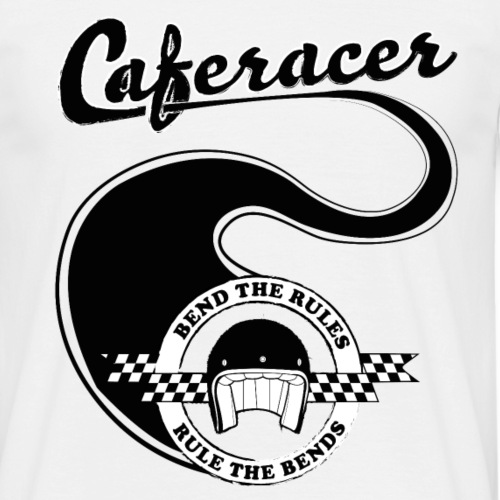 Caferacer - Bend the rules, rule the bends! - Men's T-Shirt