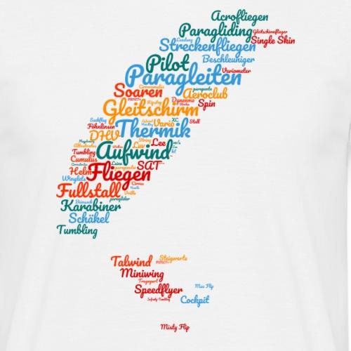Gleitschirm Wortwolke - Männer T-Shirt