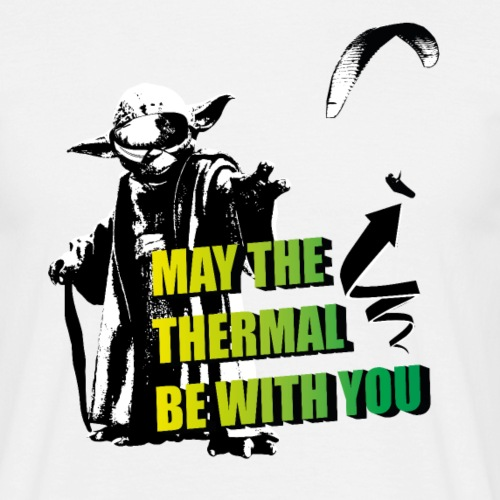 May the thermal be with you Gleitschirm Paraglider - Männer T-Shirt