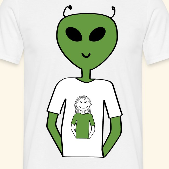 Alien human T-shirt T-shirt