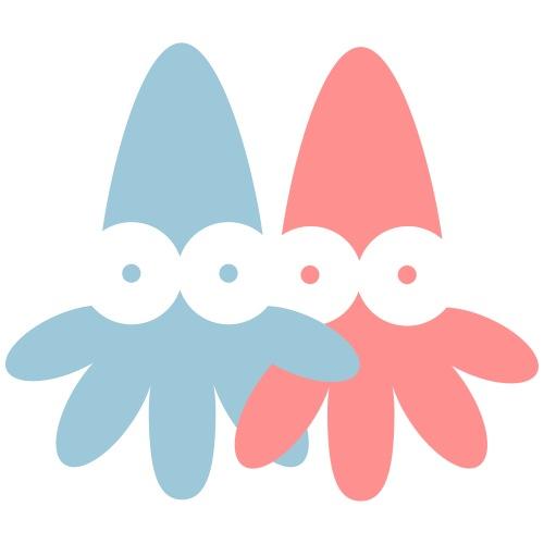 2 Squids Vector - choose design colours