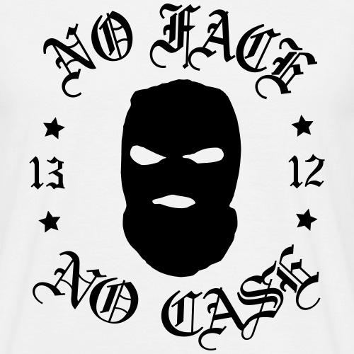 No Face, No Case - Skimask - musta iso printti - Miesten t-paita