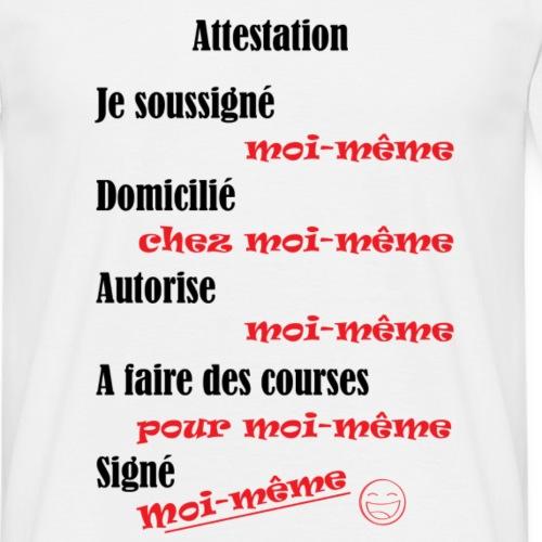 Attestation - T-shirt Homme