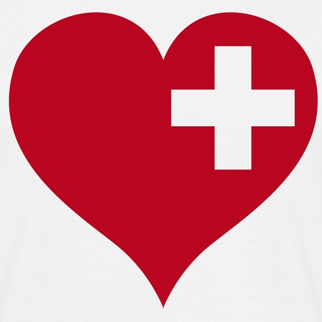 swiss heart red