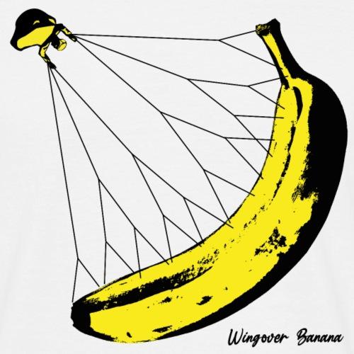 Wingover Banana Parglider 🍌 Bananen Gleitschirm - Männer T-Shirt