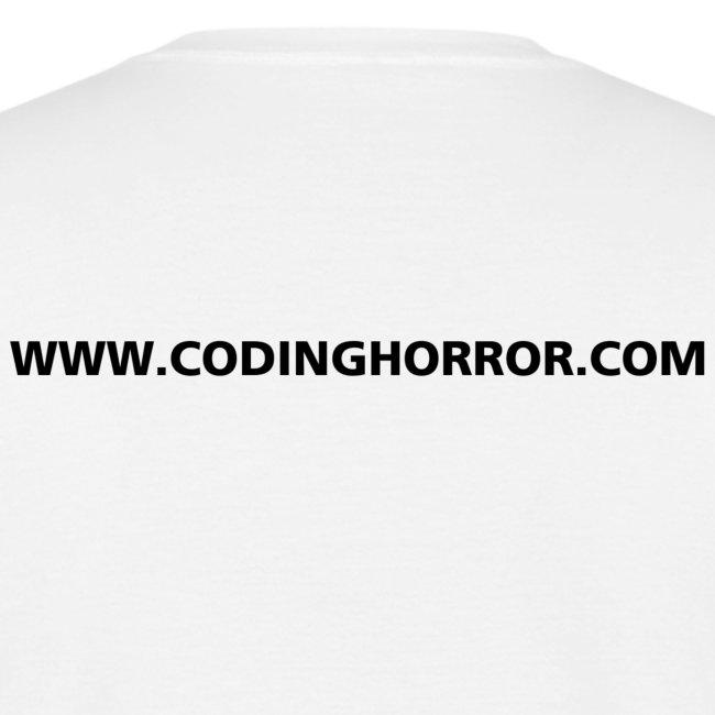 codinghorrortshirtxxlargenotext