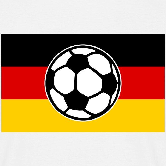 Fussball Deutschland Flagge Manner T Shirt