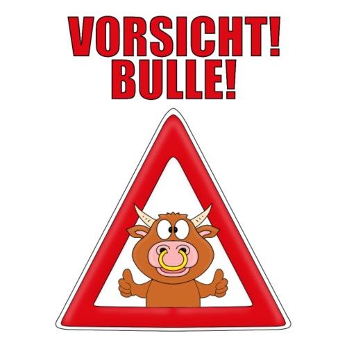 VORSICHT! BULLE - RIND - TIERISCH - TIER - FUN - Männer T-Shirt