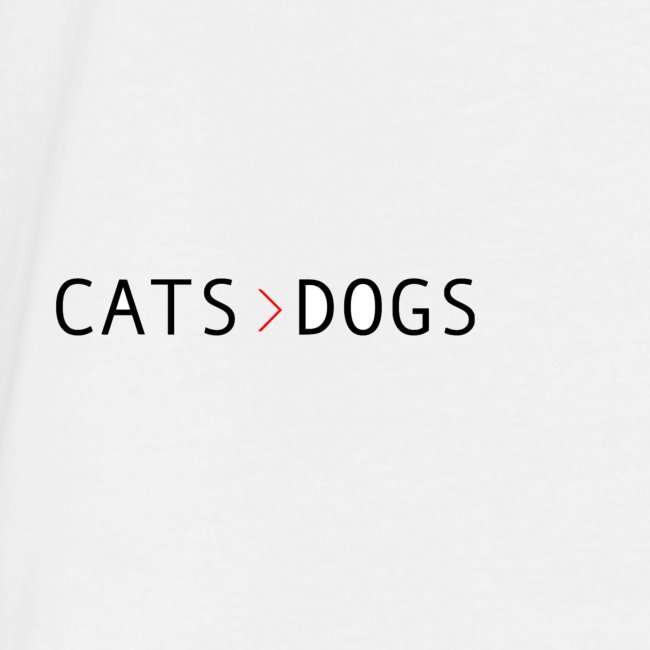 Cats>dogs