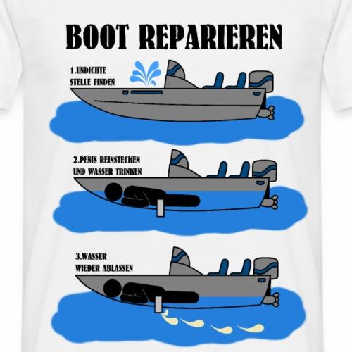 Boot Reparieren Anleitung Shirt Geschenk Idee - Männer T-Shirt