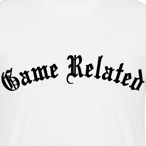 Game Related - musta printti - Miesten t-paita