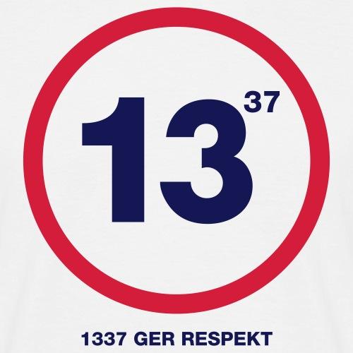 geek 1337 - T-shirt herr