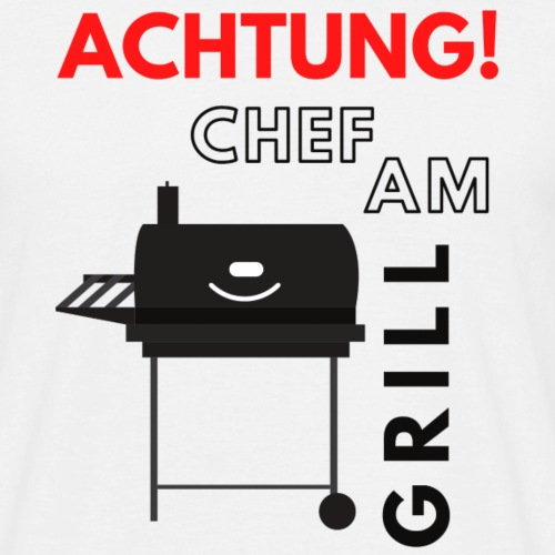 Chef am Grill - Männer T-Shirt