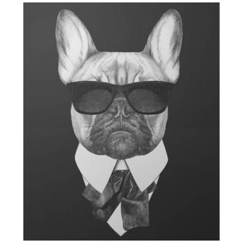 Bulldog boss - T-shirt herr