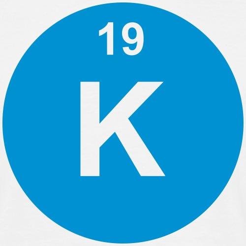 Potassium (K) (element 19) - Men's T-Shirt