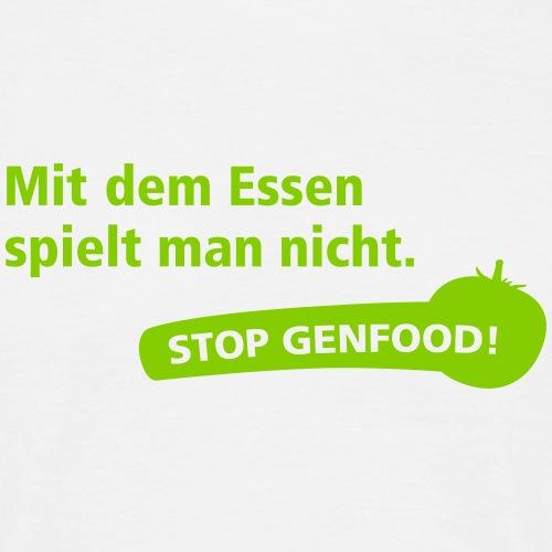 Stop Genfood - Männer T-Shirt
