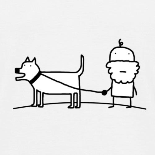 Pim met de hond - Mannen T-shirt