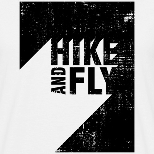Hike and Fly Paragliding 3D Text - Männer T-Shirt