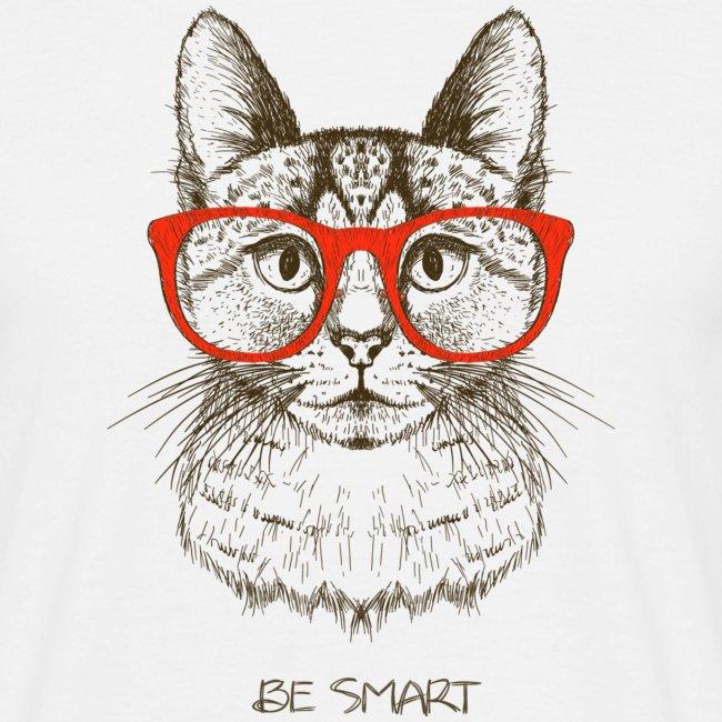 Vorschau: Cat Hipster - Männer T-Shirt