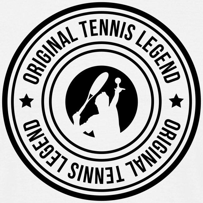 stamp original tennis legend man