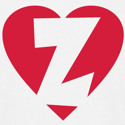 Herz Z I love Z Buchstabe Z - Männer T-Shirt