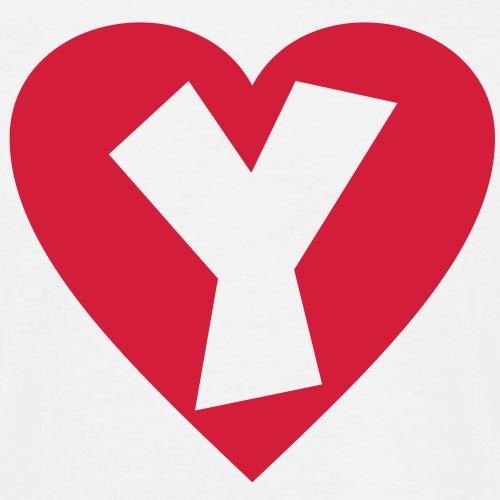 Herz Y I love Y Buchstabe Y - Männer T-Shirt