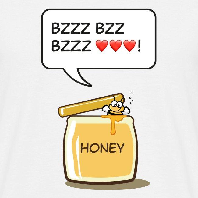 Bi i honungsburk