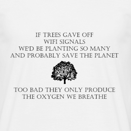 Wifi Tree - Mannen T-shirt