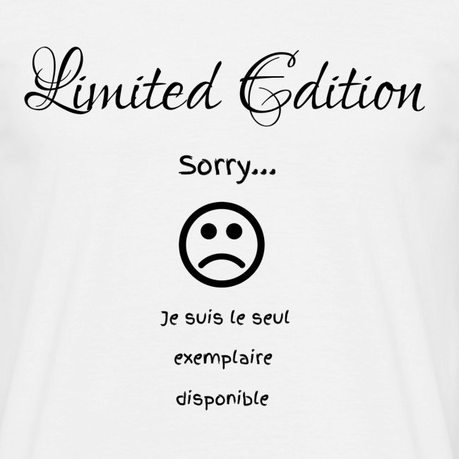 Sorry... Limited Edition