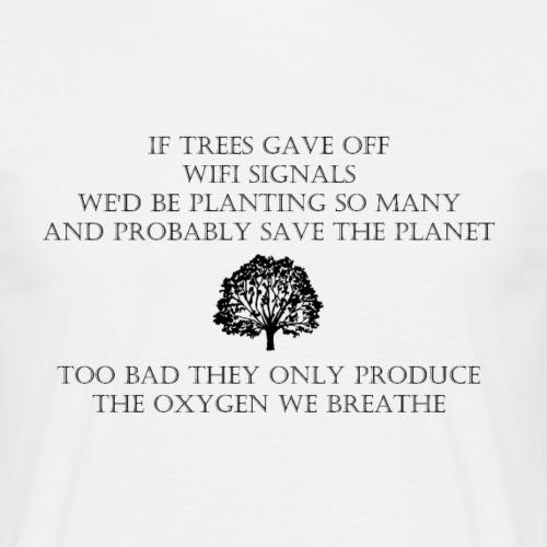 Wifi Tree - Mannen T-shirt