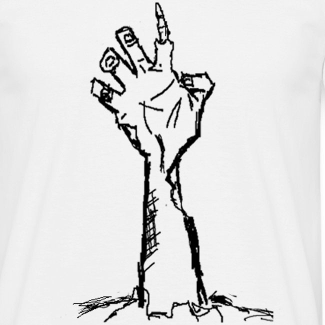 Zombie hand from the ground