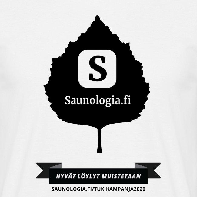 Saunologia.fi - koivun lehti - valkoinen