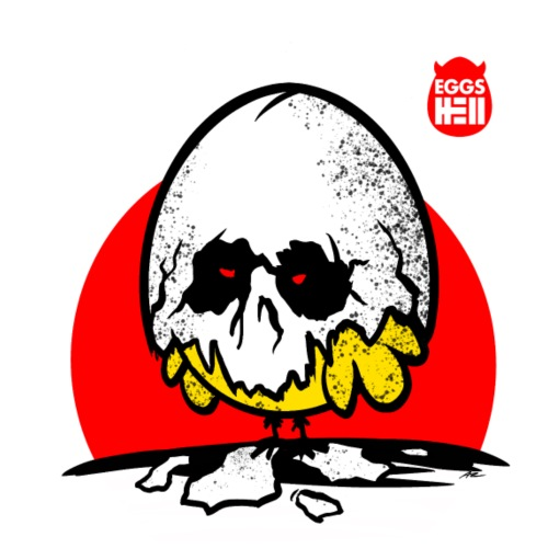 Eggshell skull - easter egg - Men's T-Shirt