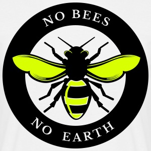 No Bees, No Earth - Men's T-Shirt
