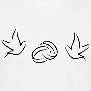 Pigeons (anneaux de mariage) - T-shirt Homme