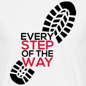 Every Step of the way - Männer T-Shirt