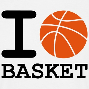 i_love_basket - T-skjorte for menn