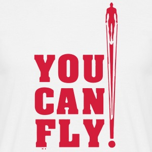 you can fly hero RED - Men's T-Shirt