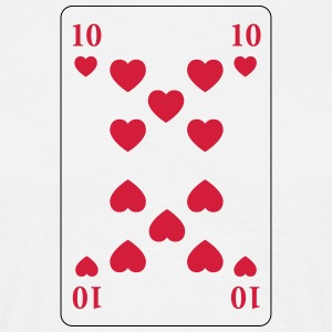 Heart 10 - ten of hearts - Men's T-Shirt