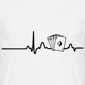 EKG Poker spiller sort - Herre-T-shirt