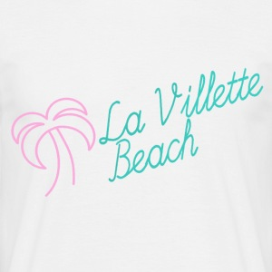 La Villette beach rosa mint - T-shirt herr
