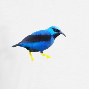Low Poly BlueBird - T-skjorte for menn