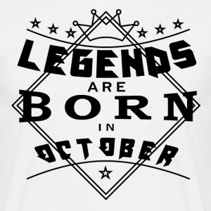 Legends October born birthday gift birth - Men's T-Shirt