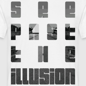 See past the illusion design by KylaCher Studio - Men's T-Shirt