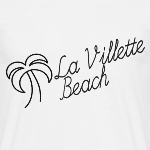 La Villette black beach - Men's T-Shirt