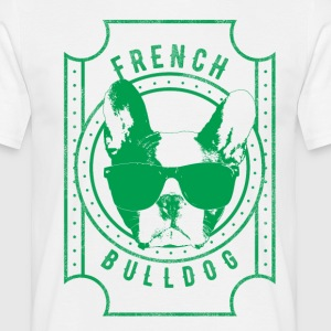 French Bulldog green - T-skjorte for menn